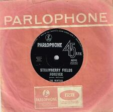 "THE BEATLES - STRAWBERRY FIELDS FOREVER / PENNY LANE - RARE 7"" VINYL RECORD 1967"