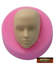 M00113 MOREZMORE Male Doll Head Face Man Boy Silicone Mold Clay Cake Soap NDY