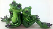 FROG COUPLE Marble Look Figurine Statue Decorative Ornament Home Decor - NEW