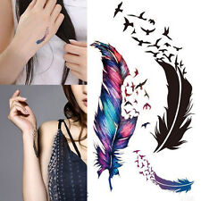 1X Waterproof Tattoo Small Fresh Wild Goose Feather Pattern Tattoo Sticker MD