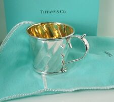 Tiffany Sterling Silver Italy Gold Wash Cup * Tiffany Pouch and Box