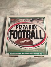 Pizza Box Football Strategy Game for the Football Fan 4 Levels of Play Complete