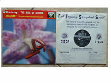 DECCA SXL 2042 * STRAVINSKY * THE RITE OF SPRING * ERNEST ANSERMET * PLAYS GREAT