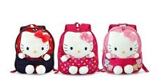 Hello Kitty Toddler Girls Canvas Backpack With Soft Toy Red Pink School Bag Dots