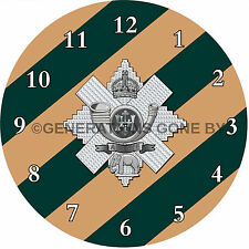 HIGHLAND LIGHT INFANTRY GLASS WALL CLOCK