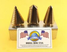 Step Drill Bit Set Hi-Molybdenum M7 Step Bit UNIBIT Lifetime Warranty USA MADE