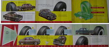 Michelin Tyres For Ford Cars 1955 Original UK Brochure Popular Anglia Zephyr