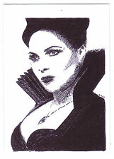 ACEO Sketch Card Lana Parrilla as Regina from Once Upon A Time TV Series