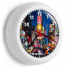 NY NEW YORK CITY TIMES SQUARE MANHATTAN NYC WALL CLOCK OFFICE LIVING ROOM DECOR