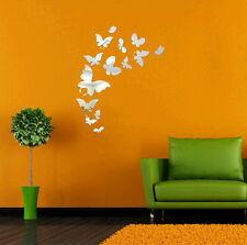 Spiegelsticker Schmetterling geschenk Wandtattoo Wandsticker stylisch Butterfly