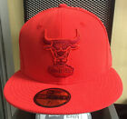 New Era 5950 59Fifty Chicago Bulls Infra Red Fitted Cap Various Size 7 thru 8