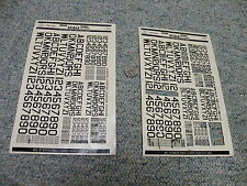 Microscale decals 1/72 72-25  US id letters numbers white 2 sheet - partial  F22
