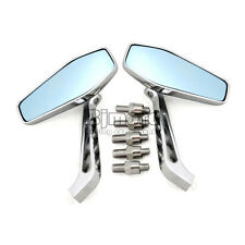 "Motorcycle 7/8"" Rear View Chrome Mirrors for Harley Sportster 883 1200 XL 48 72"