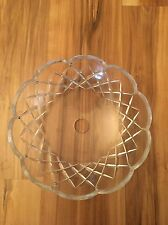 Vintage 5 1/2in Crystal Clear Glass Chandelier Bobeche Lamp Part 10 Pin Holes