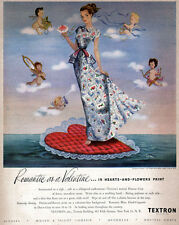 Fred Siebel Romantic As A Valentine TEXTRON Hears and Flowers 1948 Print Ad