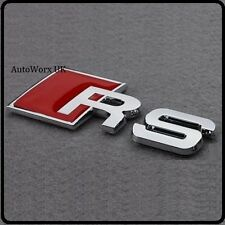 New RS Badge Emblem Decal Sticker Logo Audi boot lid rear trunk tailgate