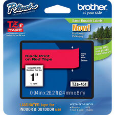 Brother TZe451 24mm black on red Ptouch tape PT7500 PT7600 PT9700PC PT9800PCN