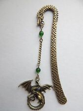 Game of Thrones Inspired Antique Bronze Dragon Bookmark .
