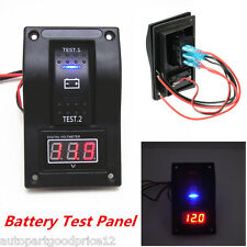 12V Car Van Marine LED Voltmeter Dual Battery Test Panel Rocker Switch ON-OFF-ON