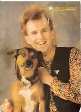 HOWARD JONES and his dog magazine PHOTO / Pin Up / Poster 11x8""
