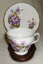 Vintage Royal Vale Bone China Violet Cup & Saucer made in england