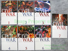 Marvel's Civil War 1-7 First Prints Complete Set Movie Coming BIG PICS 2 3 4 5 6