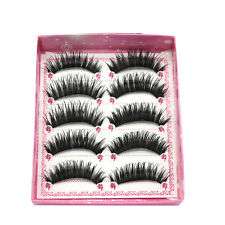 5 Pairs Natural Long Thick Cross False Eyelashes Double Layer Easy to Apply