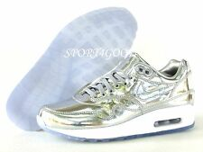 Nike Air Max 1 Premium iD Liquid Silver Metal Women SZ 5.5 [829358 991]
