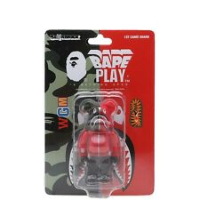 A BATHING APE X MEDICOM 1ST CAMO SHARK BE@RBRICK Red 100%