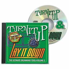 Turn It Up & Lay It Down Rock-It Play Heavy Metal Drum Practice Playalong CD 3