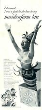 """1954 Maidenform Bra """"I dreamed I was a Jack-in-the-Box"""" ART Drawing PRINT AD"""