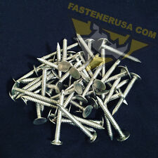 "1 1/2"" Annular Ring Shank Solid 304 Stainless Steel Roofing Nails 10ga. (50 pcs)"