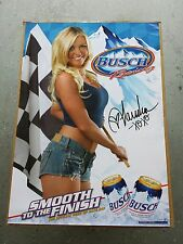 BRAND NEW Budweiser Busch Beer Racing Hot Blonde Poster