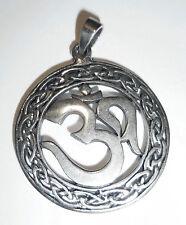 Anhänger Kette OM Symbol ECHT 925 Silber Talisman Amulett AUM Zeichen SS98