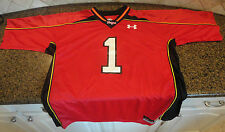 Maryland Terrapins Terps Red Under Armour Football Jersey #1 Mens XXL UA NWT