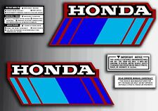 ATC 70 1985 Tank Stickers With Warning Set Honda Trike
