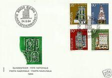 SWITZERLAND, PRO PATRIA 1984, FDC, SCOTT # B505-B508, MICHEL # 1272-1275