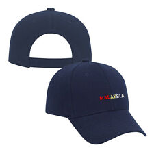 MALAYSIA COUNTRY Embroidery Embroidered Adjustable Hat Cap Navy