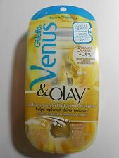 GILLETTE VENUS & OLAY RAZOR+ 1 GEL BAR CARTRIDGES+ 1 SHOWER HOOK - Gold-  New!