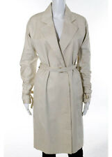 PATRIZIA PEPE FIRENZE Tan Buckle Detail Double Breast Trench Coat Sz EU 40