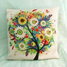 US Seller- tree of life vintage retro cotton linen cushion cover