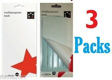 420 Grams of Sticky TACK Multipurpose NON-TOXIC Re-useable BLUE in 3 LARGE Packs
