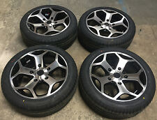 "18"" ST BLACK POLISHED Alloy Wheels & Tyres 5X160 FORD TRANSIT / CUSTOM"