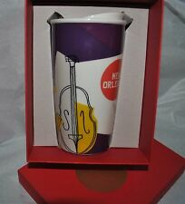 New Starbucks TRAVEL TUMBLER NEW ORLEANS JAZZ Coffee/Tea MUG Gift Box RARE