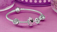 AUTHENTIC PANDORA DISNEY MICKEY ICON CLEAR CZ  S925 ALE BRACELET 7.5 590731CZ-19