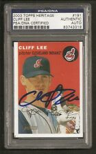 Cliff Lee 2003 Topps Heritage Signed Auto PSA/DNA ENCAPSULATED