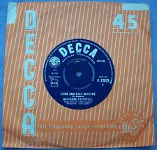MARIANNE FAITHFULL Come and Stay With Me UK DECCA 1st Beat Rolling Stones