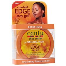 Cantu Shea Butter for Natural Hair Edge Stay Gel, Extra Hold 2.25 oz