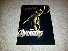 "THE AVENGERS PP SIGNED 12""X8"" POSTER LOKI TOM HIDDLESTON"