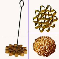 Metal Thai Dessert Sunflower Cookie Mold Dok Jok Honeycomb Biscuit Kitchen